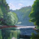 "03 Mink Brook at the Connecticut River, oil on canvas, 15"" x 21"""