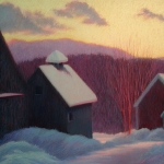 "01 Winter Sunset, 26"" x 38"", SOLD"