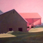 "03 Light Between Barns, 26"" x 38"", SOLD"