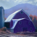 "05 Barn by Worcester Range, 19"" x 24"", Price: $1,600 framed with museum glass"