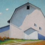 "08 White Barn Shadows, 26"" x 38"", SOLD"