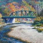 "06 Old Iron Bridge in Bethel, 22"" x 28"", Not for sale"
