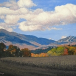 "01 Looking Towards Smugglers Notch – Autumn, 24"" x 30"", Not for sale"