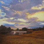 "05 Sunrise - Occom Pond, 26"" x 26"", Not for sale"