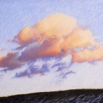 "15 Cloud #3, 20 1/2"" x 26"", Price: $2,500 framed with museum glass"