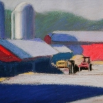 "04 Boyden Farm Study, 7"" x 8 1/2"", Price: $375"
