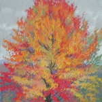 "07 Maple Tree in Full Color, 20"" x 17"", Price $750"