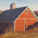 "06 Red Barn with Broken Door, 12"" x 17"", Price: $1,500"