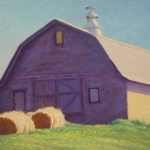 "10 Barn with 2 Hay Rolls, 13"" x 18"", Price: $1,100"