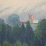"17 Morning Light (the Lamphere Farm), 13"" x 17"", Price: $750"