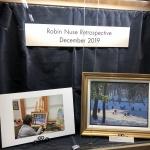 Robin Nuse Retrospective Entrance display