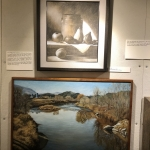 Robin Nuse Retrospective, early paintings using charcoal and gouache
